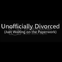 Unofficially Divorced T-shirt
